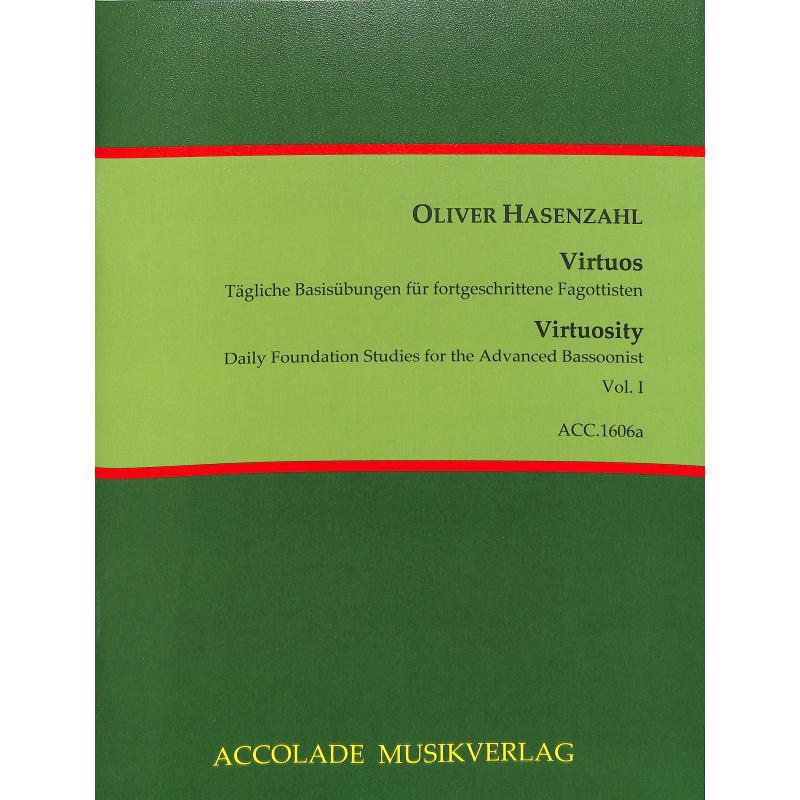 Titelbild für ACCOLADE 1606A - Virtuos 1 | Taegliche Basisuebungen fuer fortgeschrittene Fagottisten