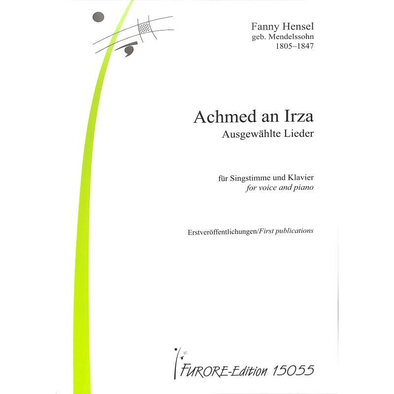 Titelbild für FUE 15055 - Achmed an Irza   Ausgewählte Lieder