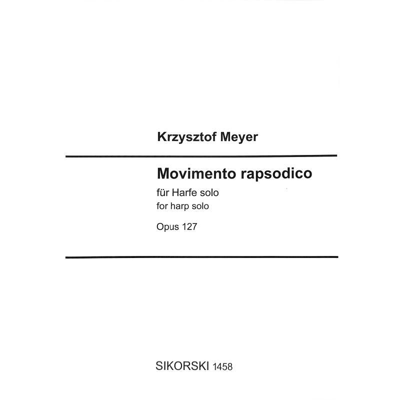 Titelbild für SIK 1458 - Movimento rapsodico op 127