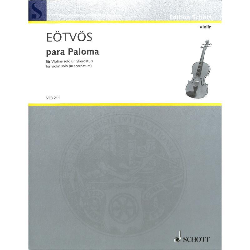 Titelbild für VLB 211 - Para Paloma