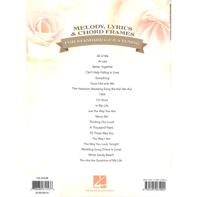 Notenbild für HL 158131 - WEDDING SONGS