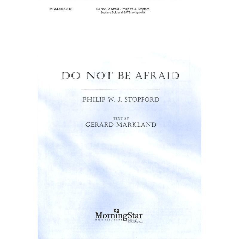 Titelbild für MSM 50-9818 - DO NOT BE AFRAID