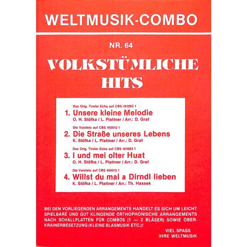 Titelbild für WM 50064B - Volkstümliche Hits