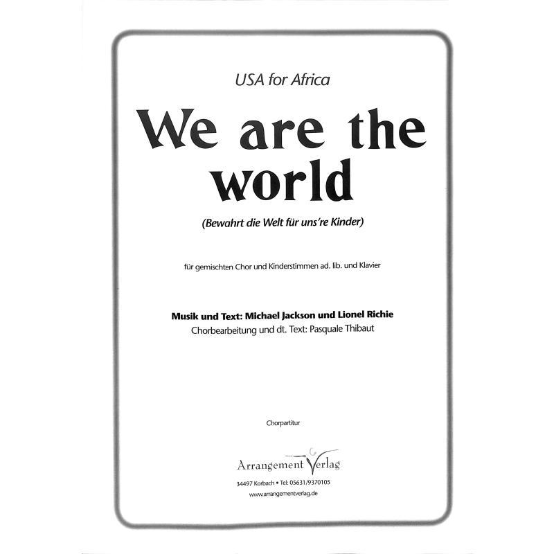 Titelbild für ARRANG -SG485 - We are the world
