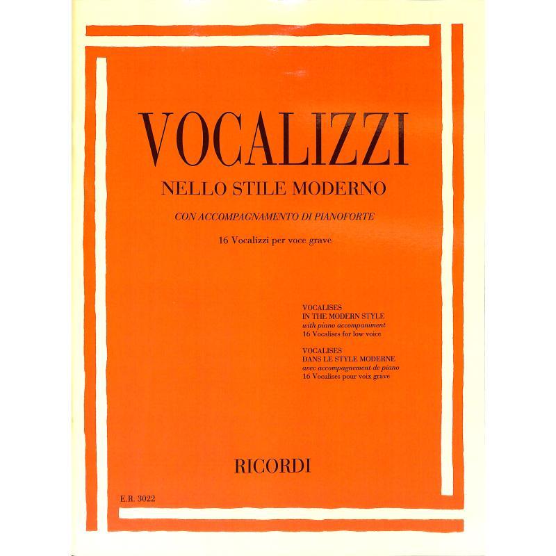 Titelbild für ER 3022 - Vocalizzi | Vocalisen