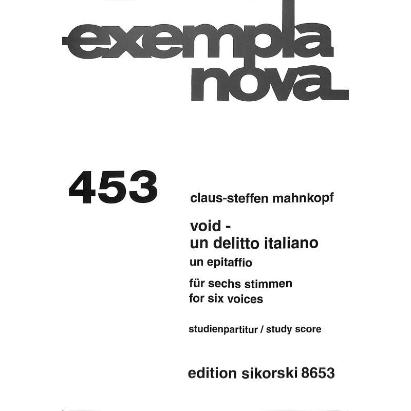 Titelbild für SIK 8653 - Void un delitto italiano