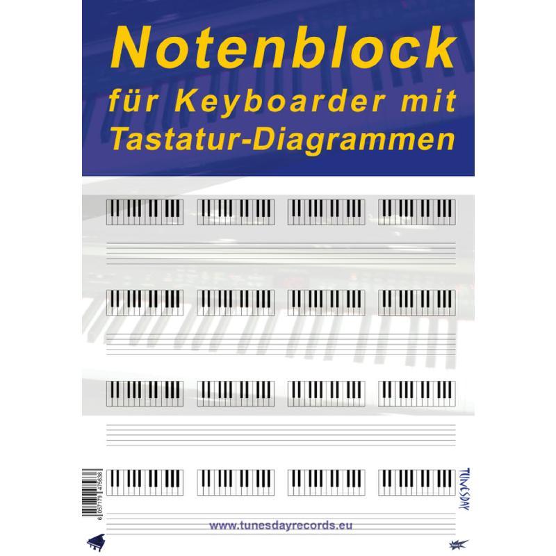 Titelbild für TUN -TB07 - Notenblock A4 100 Blatt hoch