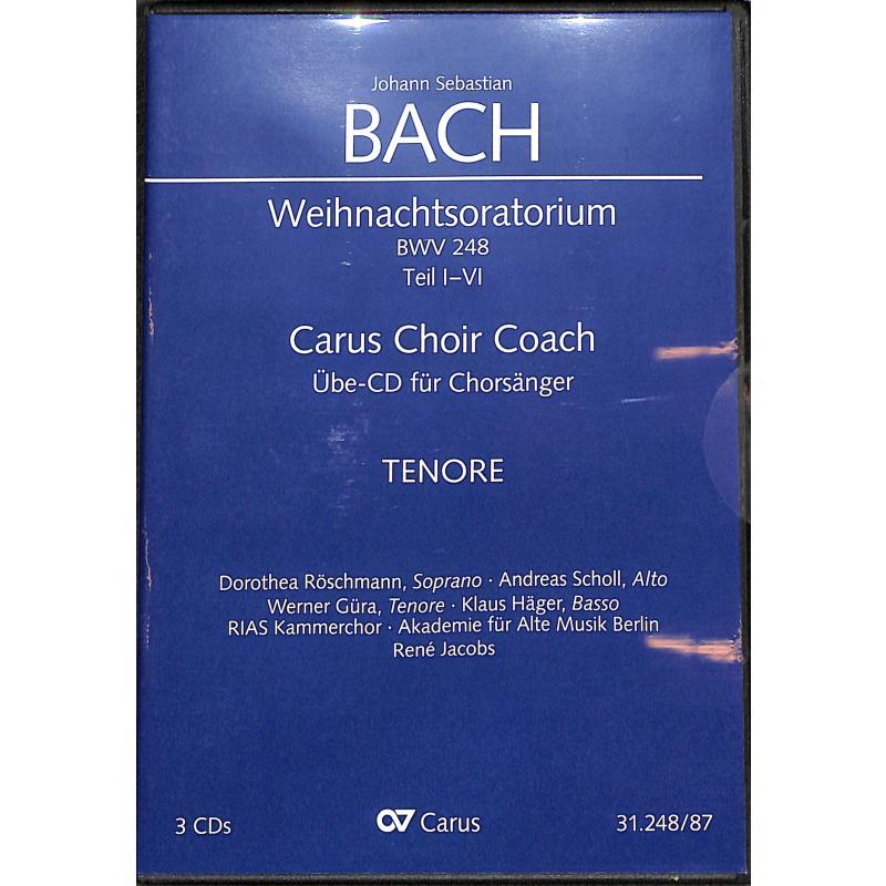 Titelbild für CARUS 31248-87 - Weihnachtsoratorium BWV 248 Teil 1-4
