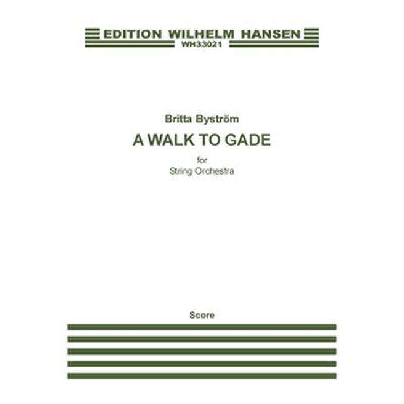 Titelbild für WH 33021 - A walk to gade