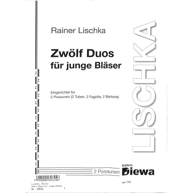 Titelbild für DIEWA 1161 - 12 Duos für junge Bläser
