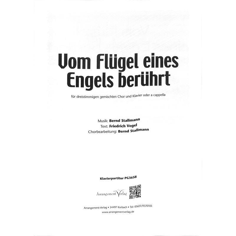 Titelbild für ARRANG -PG3658 - Vom Flügel eines Engels berührt