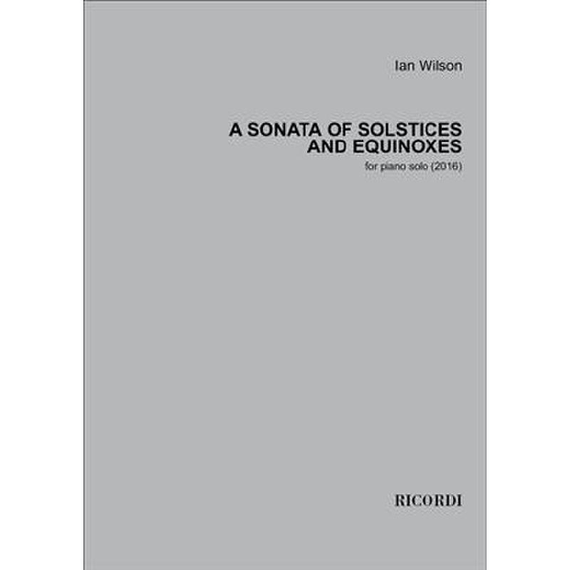 Titelbild für RICL 364 - A Sonata of solstices and equinoxes