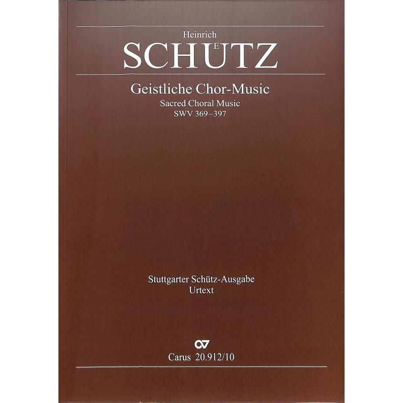 Titelbild für CARUS 20912-10 - Geistliche Chormusik SWV 369-380