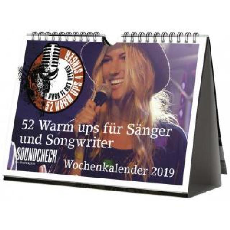 Titelbild für 978-3-95512-191-4 - Vocal Wochenkalender 2019   52 Warm ups für Sänger und Songwriter