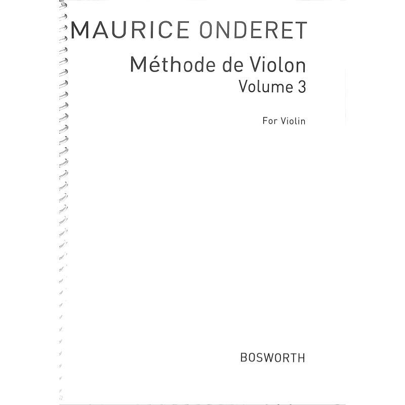 Titelbild für BOE 004721 - Violin method 3