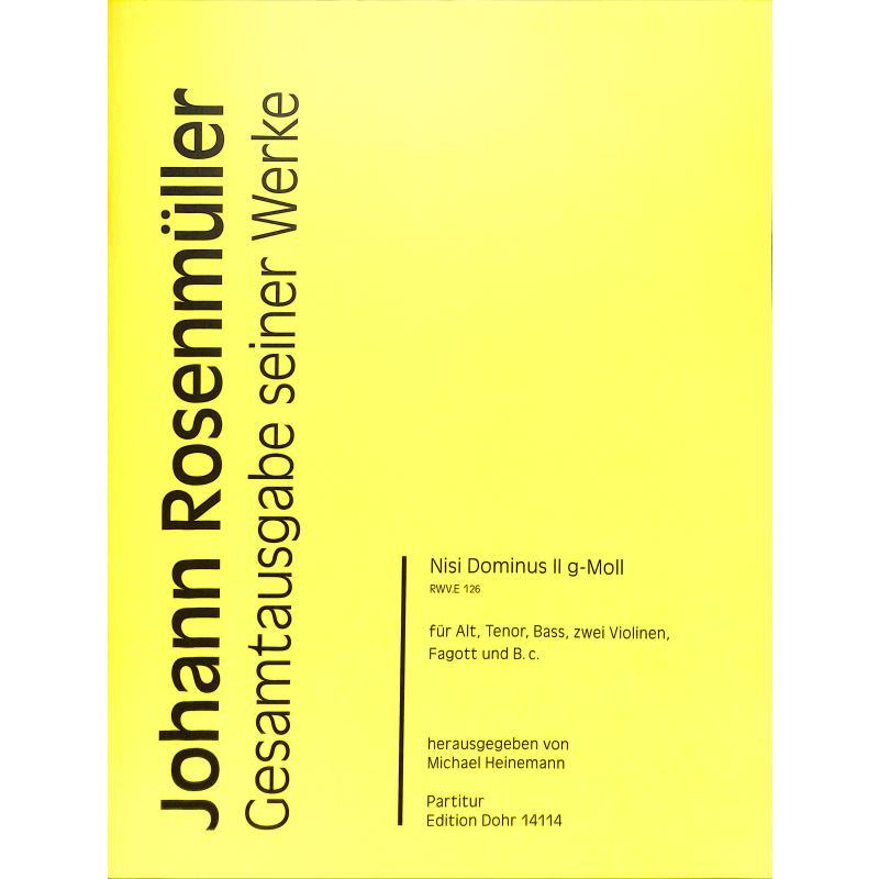 Titelbild für DOHR 14114 - Nisi Dominus 2 g-moll