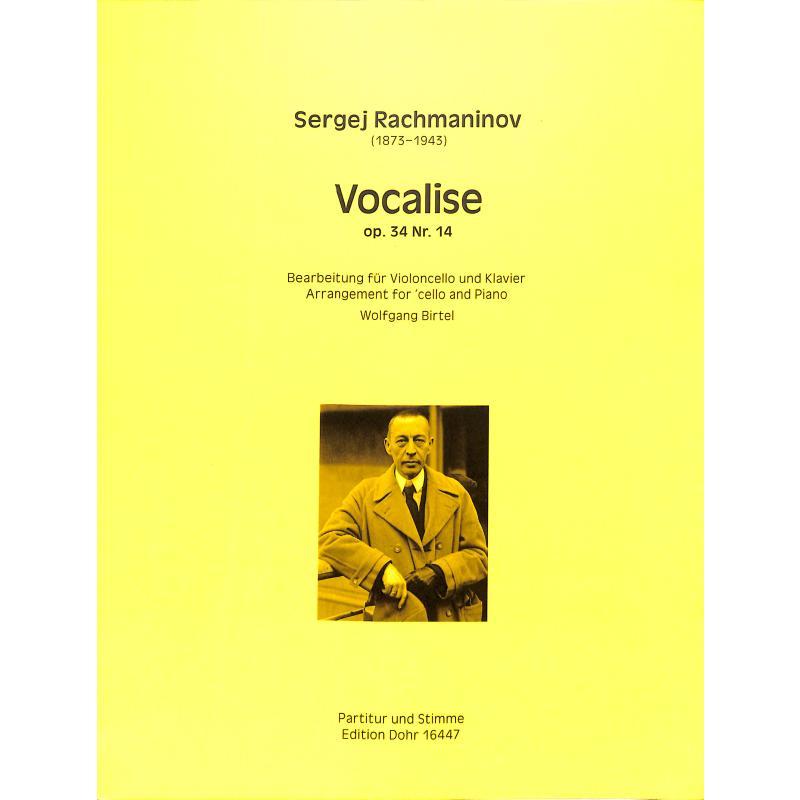 Titelbild für DOHR 16447 - Vocalise op 34/14