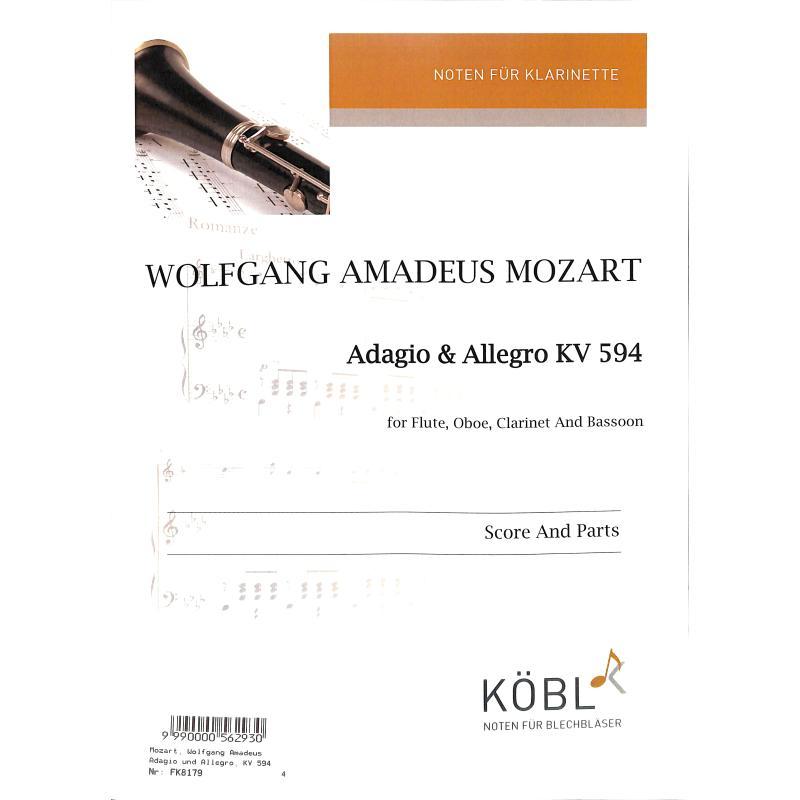 Titelbild für DIEWA 179 - Adagio + Allegro KV 594