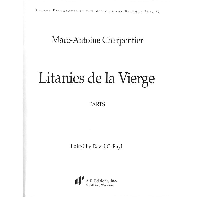 Titelbild für AREDITION -B072P - Litanies de la vierge