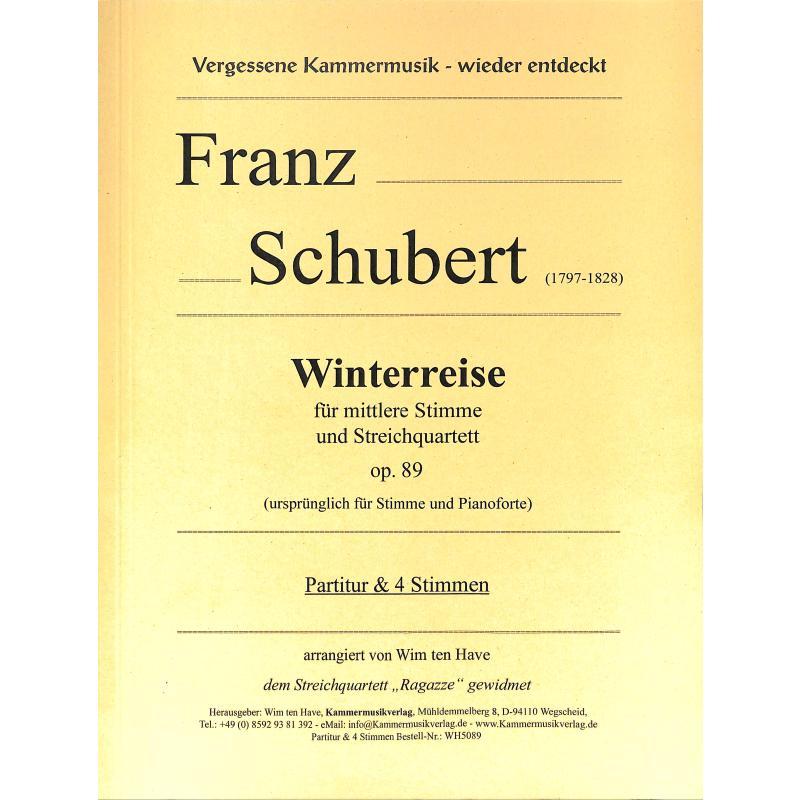 Titelbild für KMV -WH5089 - Winterreise op 89 D 911