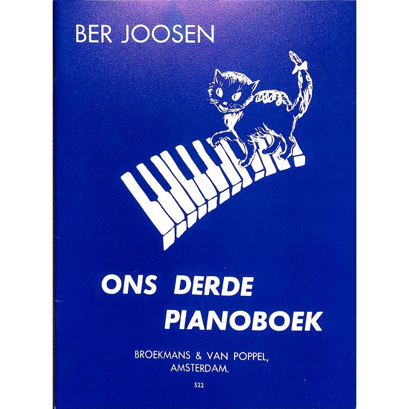 Titelbild für BVP 522 - Ons derde Pianoboek