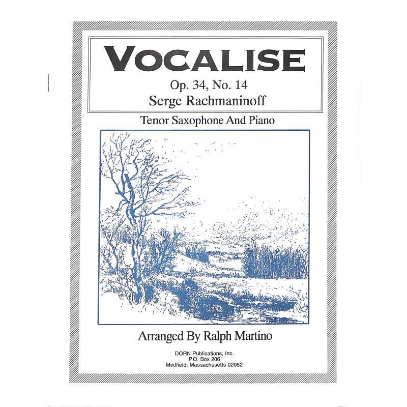 Titelbild für DORN 008 - Vocalise op 34/14