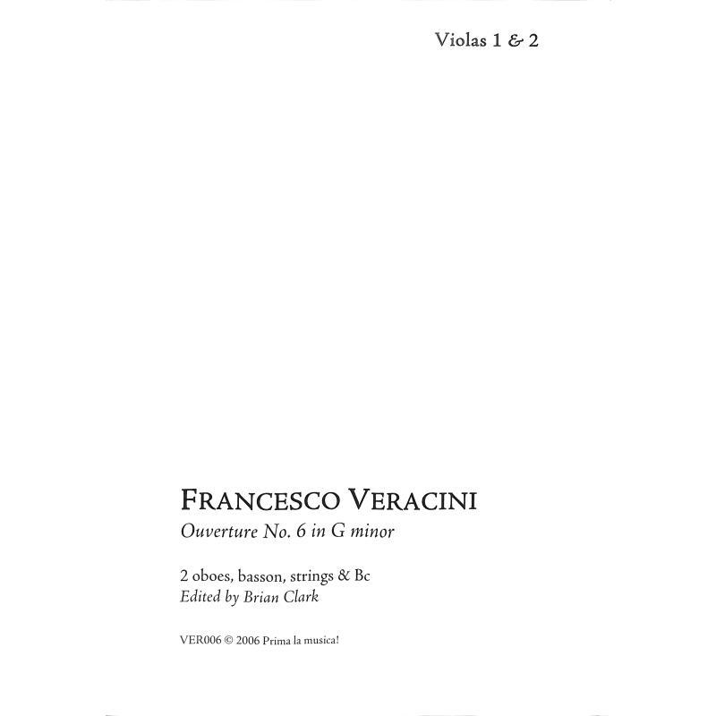 Titelbild für PRIMA -VER006-8 - Ouvertüre 6 g-moll