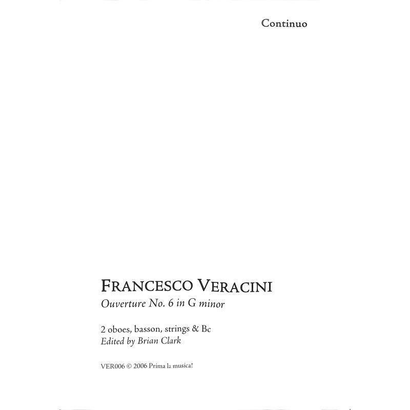 Titelbild für PRIMA -VER006-9 - Ouvertüre 6 g-moll