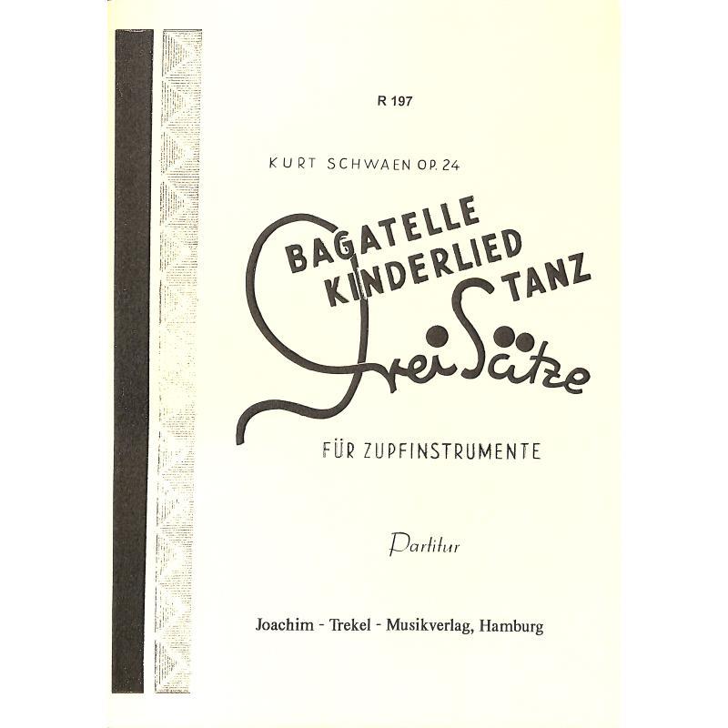 Titelbild für TREKEL -R197-P - Kinderlied Tanz - 3 Sätze