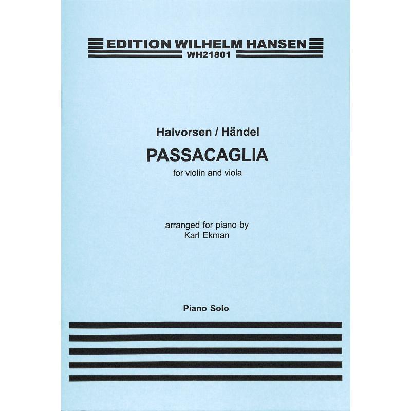 Titelbild für WH 21801 - Passacaglia