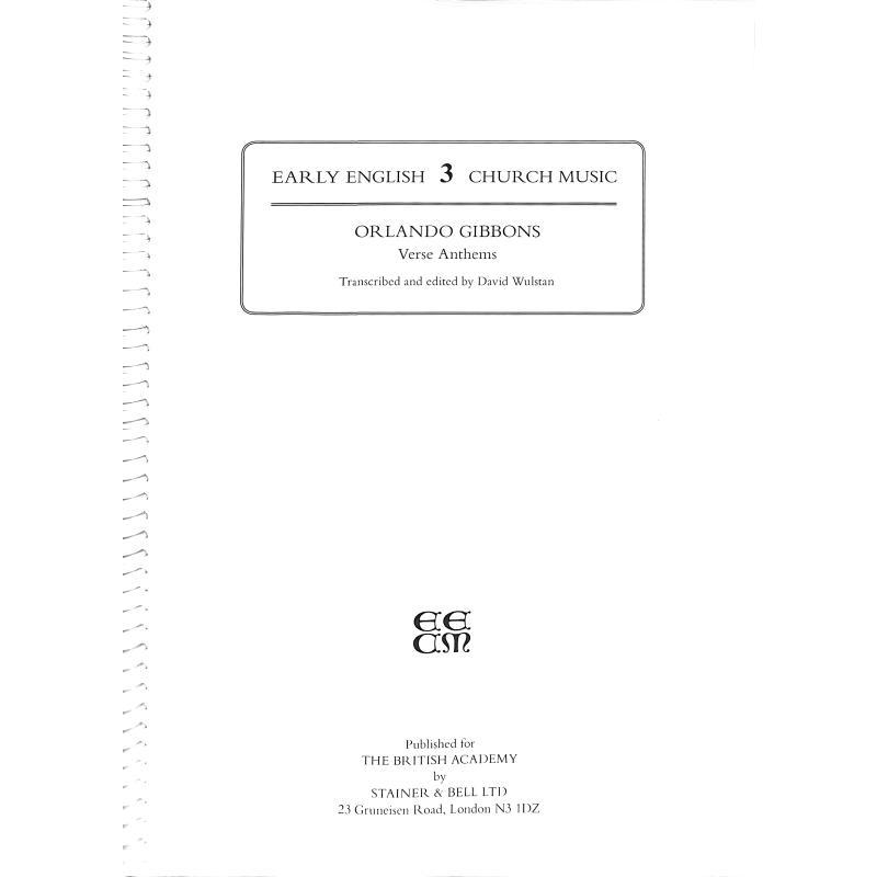 Titelbild für STAINER -EC3 - Verse anthems