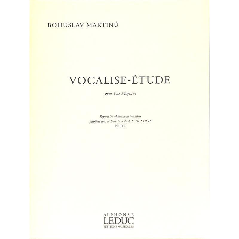Titelbild für AL 17615 - Vocalise Etude 112