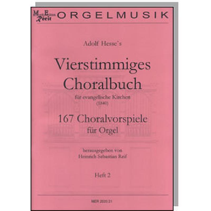 Titelbild für RECIT 2020-21 - Vierstimmiges Choralbuch für evangelische Kirchen 2   167 Choralvorspiele