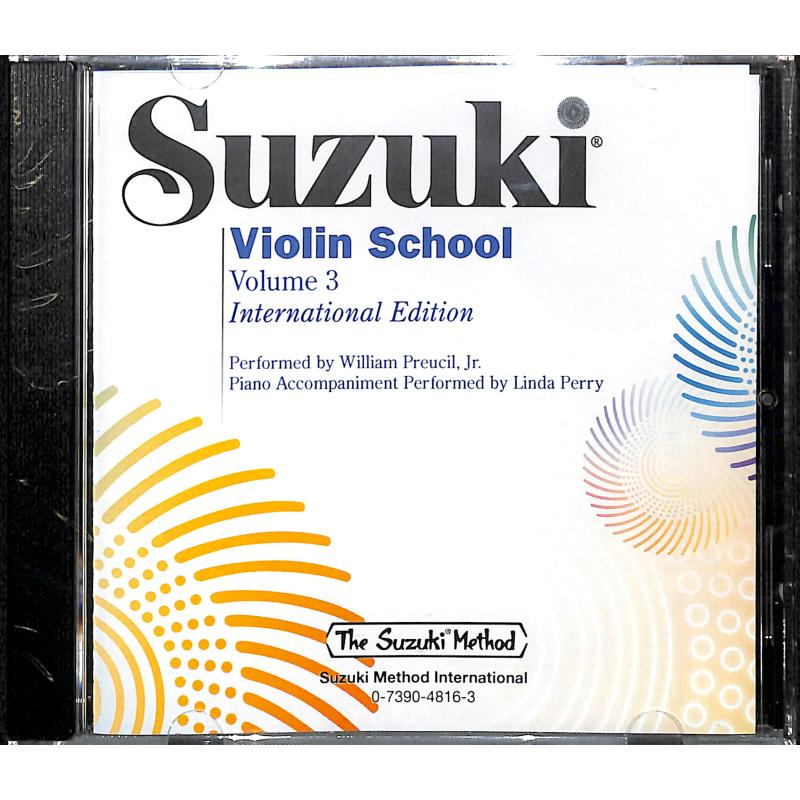 Titelbild für ALF 47078 - Violin school 3 - international edition   Performed by William Preucil jr