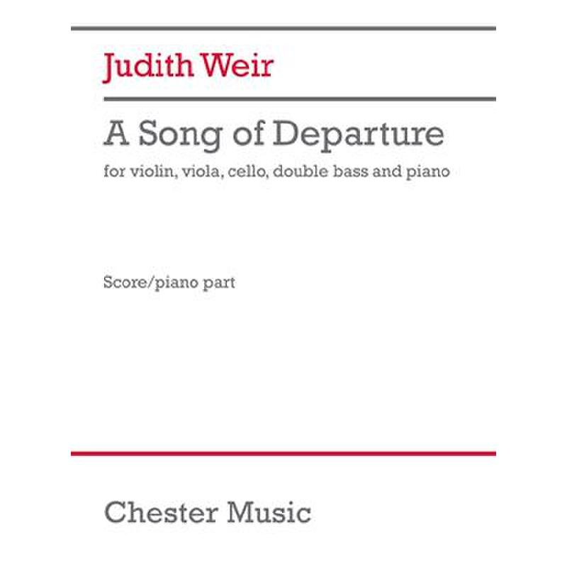 Titelbild für CH 87494 - A song of departure